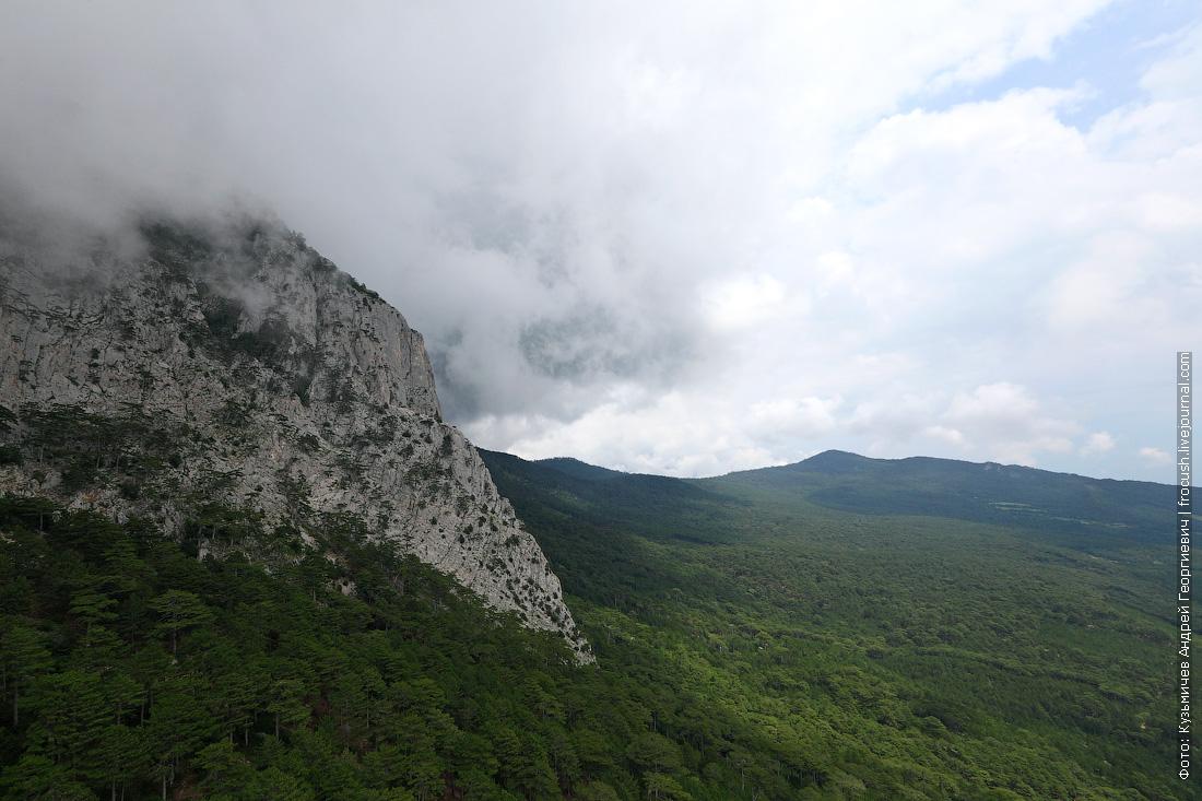Крым Ай-Петри фото из кабинки канатки