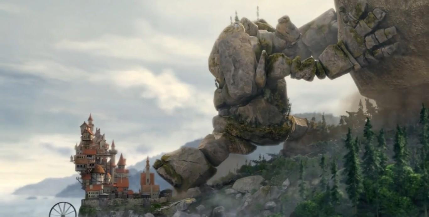 Повесть о Моменте и Инерции скриншот замок и великан