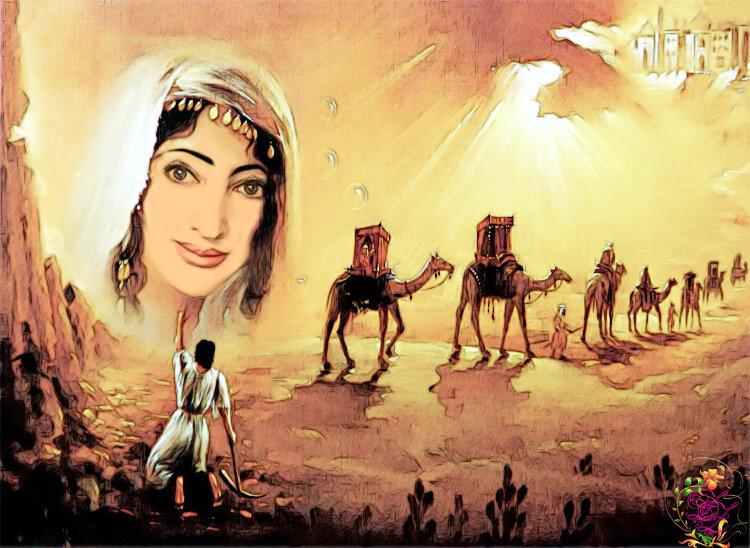 """Предпросмотр схемы вышивки  """"королева пустыни """". королева пустыни, девушка, мираж, восток, картина, предпросмотр."""