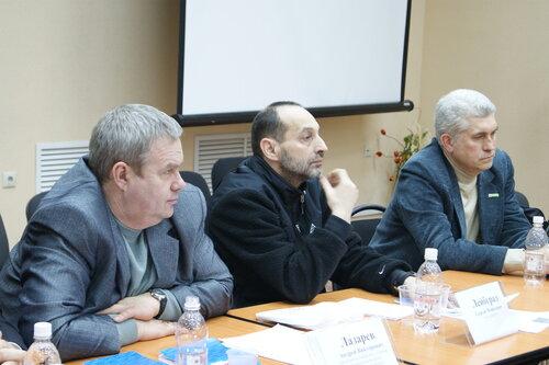 Андрей Лазарев, Сергей Лейбград и Андрей Асташкин на Гражданском форуме в Самаре