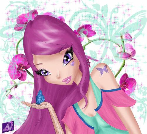 Рисунки WINX волшебниц в паинте и игра стилист для модницы!