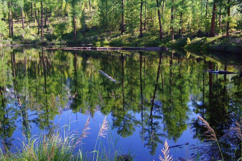 маленькое озеро вдоль тропы Шумак