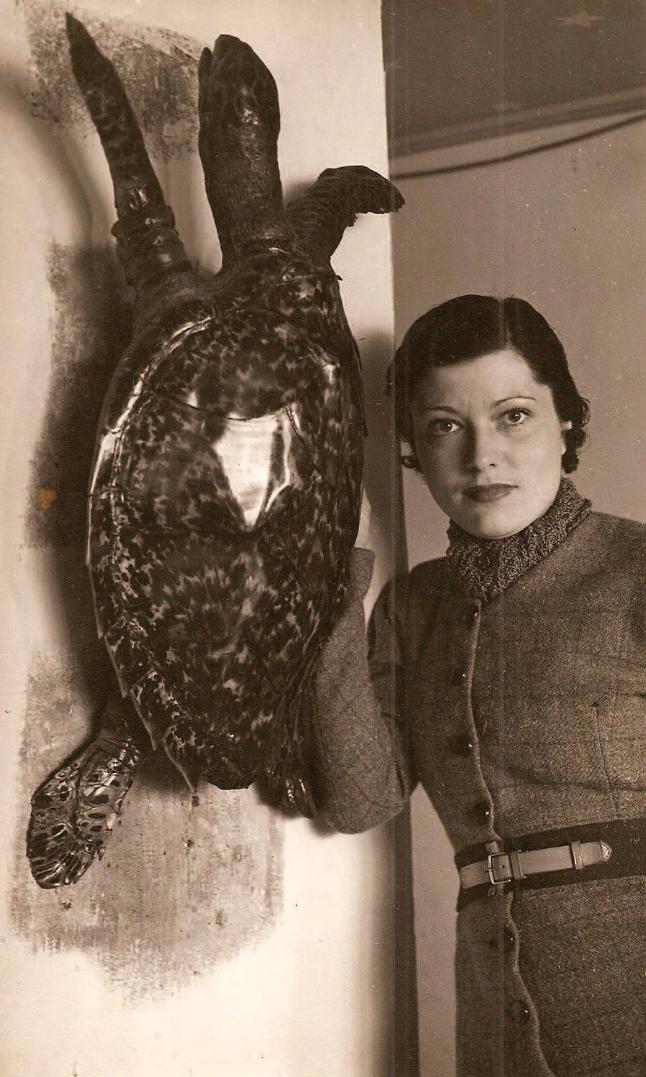 1932. Элизабет с черепахой в «Petits Docks», Париж