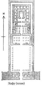 Храм Эдфу, план