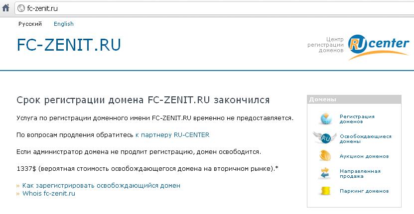 zenit domain