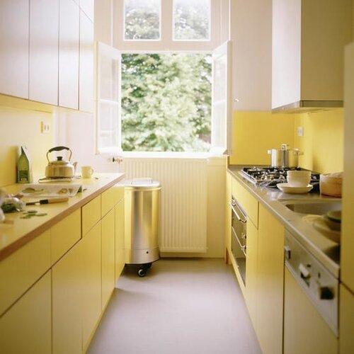 желтая кухня фото
