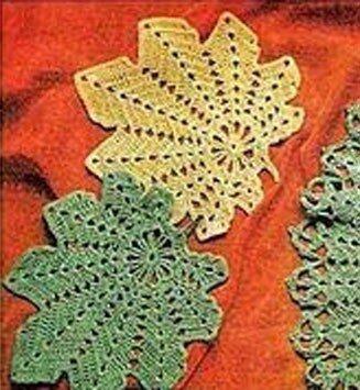 Вязаные скатерти крючком со схемами и описанием фото