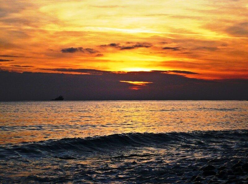 Закат на море 6