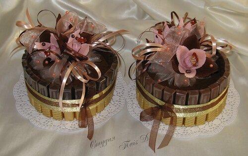 """Тортики """"мерси"""" (молочный и горький шоколад)"""