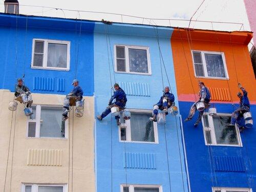 Ремонт фасада покраска