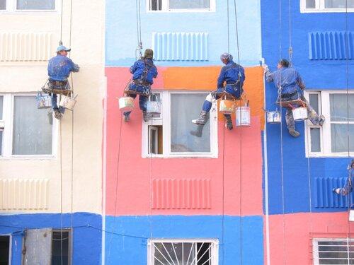 Ремонт фасада, покраска