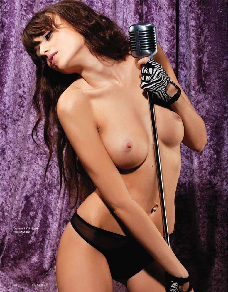 Голая Олеся Липчанская из группы Hi-Fi в журнале Playboy Россия, март 2011