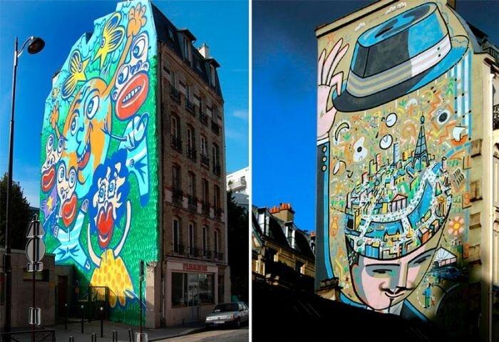 Как называются рисунки на стенах зданий