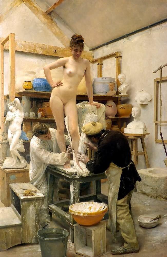 A casting from life Édouard Joseph Dantan (1848 - 1897)