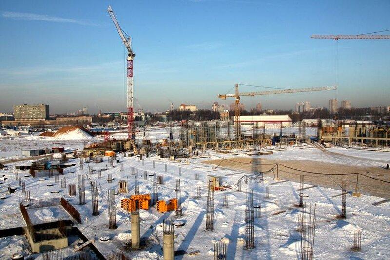 Строительство стадиона «Спартак» конец января 2012 (Фото)