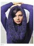 Среди моделей: жакеты, пуловеры, пальто, митенки, шарфы, береты.