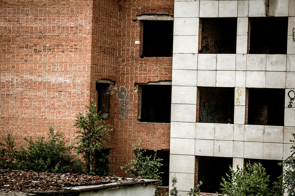 Златоуст. Недостроенный больничный комплекс