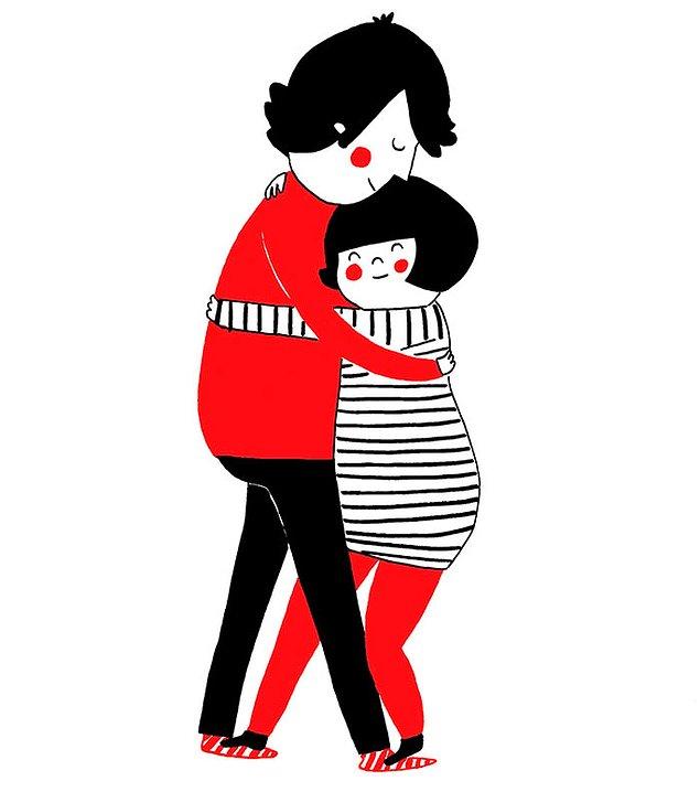 Любовь - это отложить все в сторону и просто обнять