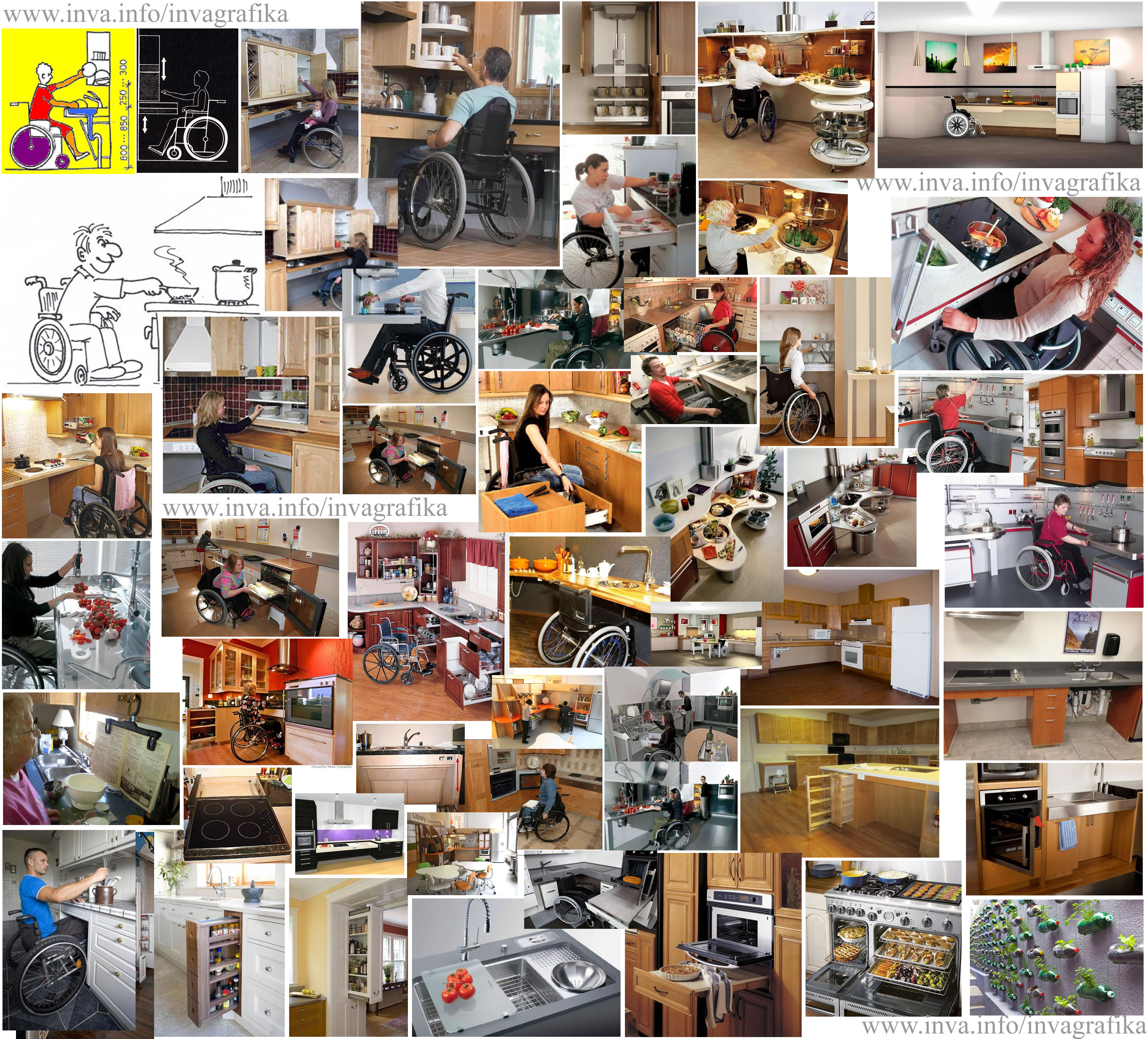 Инваграфика, кухня, мебель для инвалидов