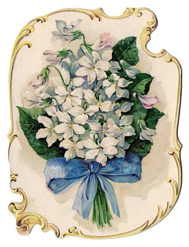 Цветы ретро открытка