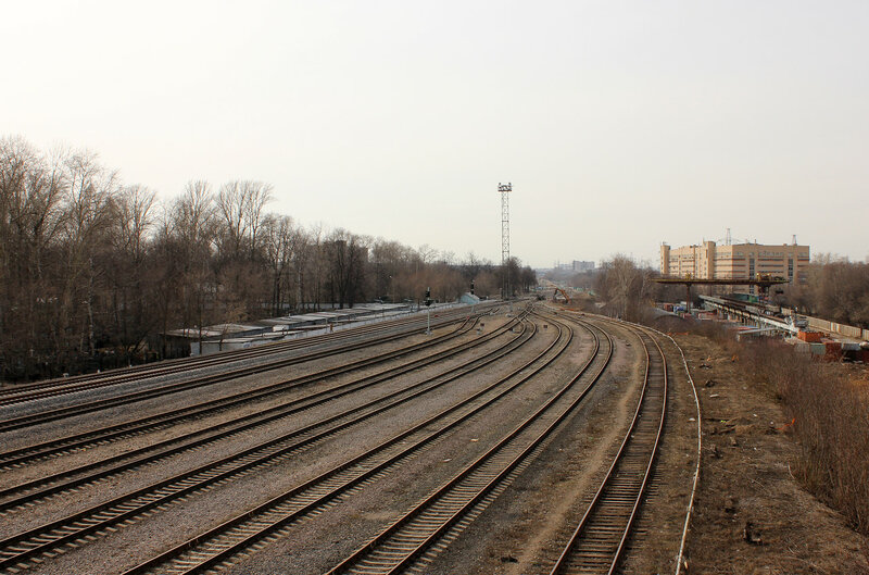 Станция Ростокино, вид на Владыкино