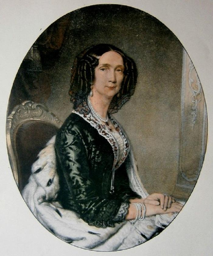 Sophie, Prinzessin von Bayern-Zweybrücken-Birkenfeld Lithografie von  Gemälde von Anton Einsle.