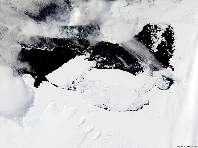 22. Столкновение Айсбергов в Антарктике