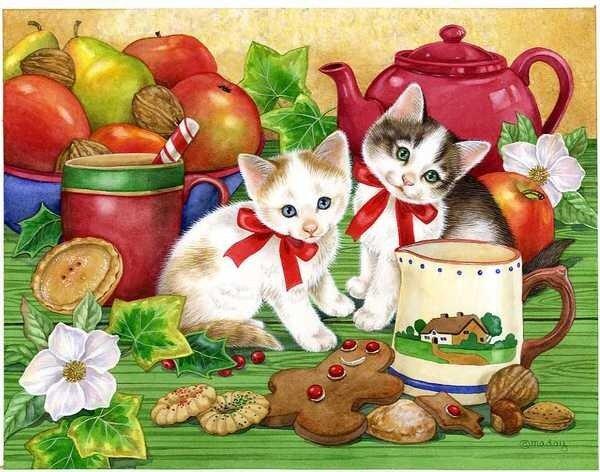 Котята от художницы Jane Maday.