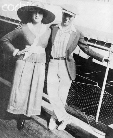 Mildred and Charlie Chaplin on Honeymoon