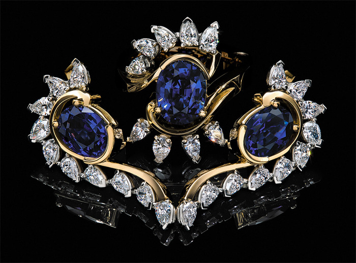 Рекламная фотосъемка ювелирных изделий и драгоценных камней.