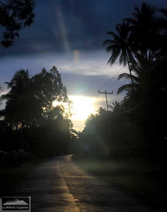 Закат на Биаке