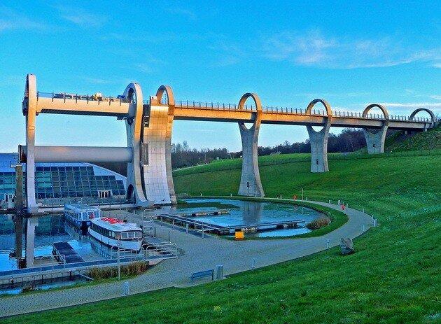 Фолкеркское колесо (Falkirk Wheel). Шотландия