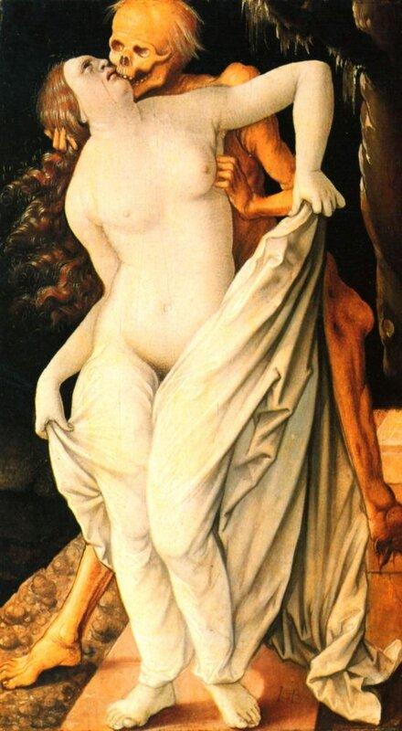 Г. Бальдунг.  Смерть и женщина.1518-1520 http://veniamin1.livejournal.com/profile