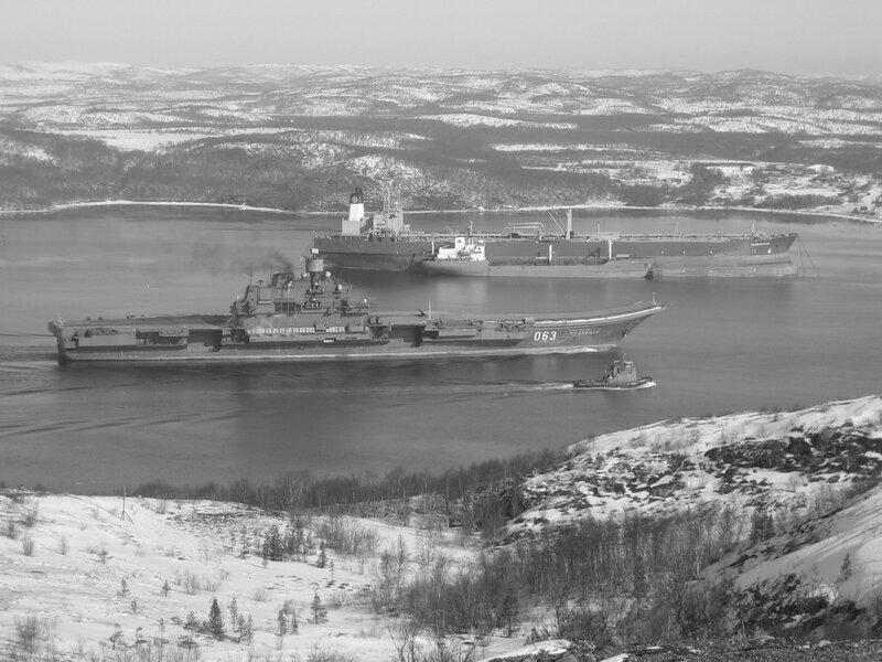 ТАКР пр.1143.5 «Адмирал Кузнецов» возвращается на базу.