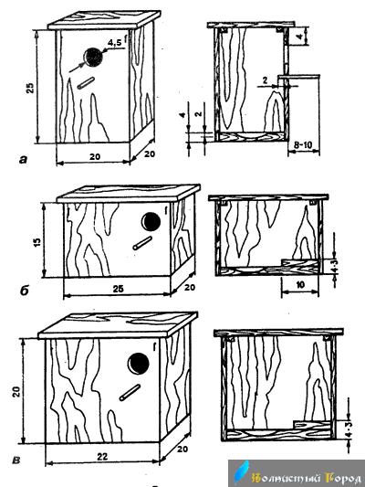 Как сделать гнездо для попугаев размеры