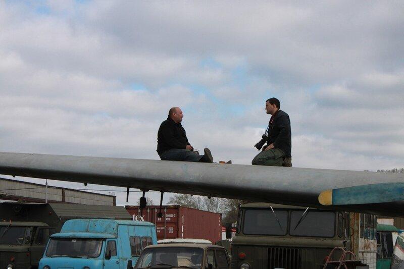Олег даёт интервью