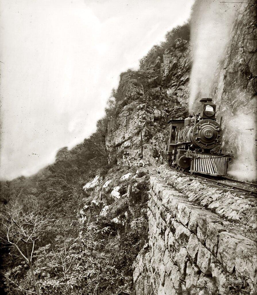 "William Henry Jackson""Tamasopo River Canyon"", Mexico, 1890"