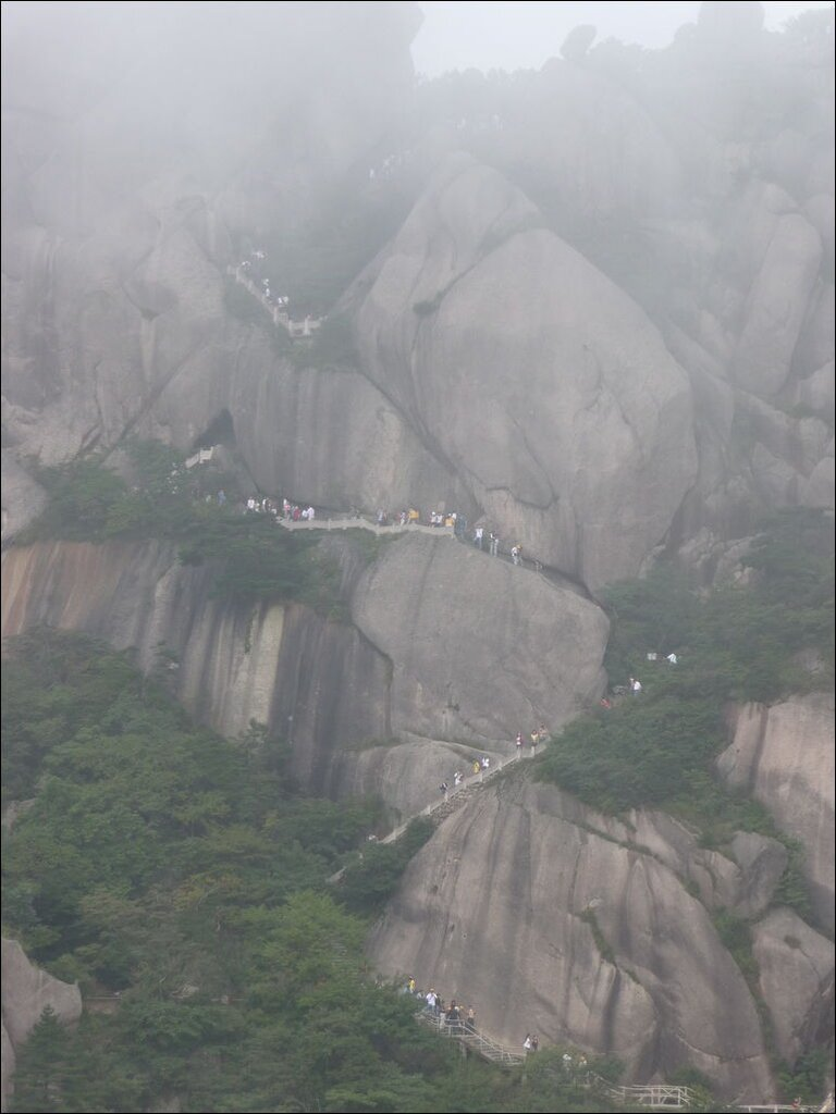one of the million stairs in the Yellow mountains