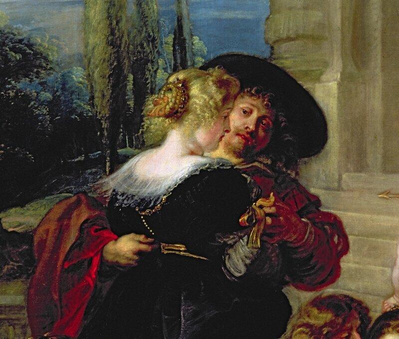 Сад Любви, Рубенс 1633 г.деталь