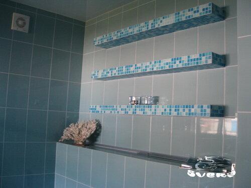 Как сделать полку в ванной своими руками из плитки 90