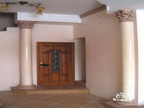 декоративная штукатурка на колоннах