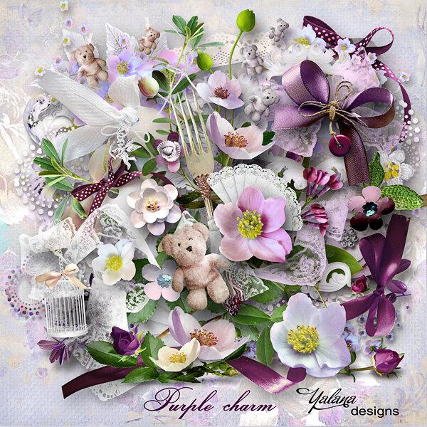 Изумительно красивый цветочный скрап