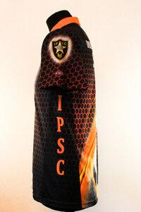 Футболка DVC1 (черно-оранжевая)