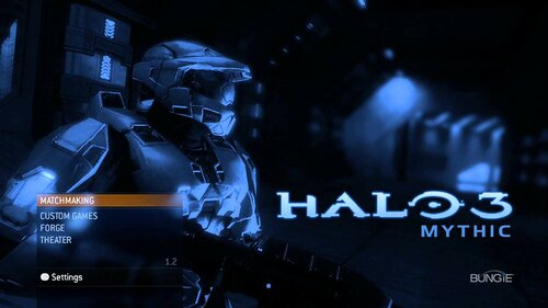 Halo 3 Mythic - Меню
