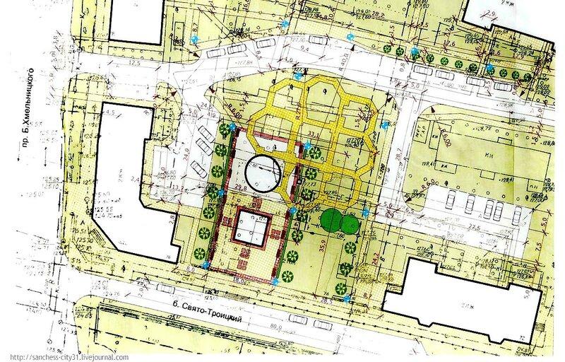 УВЕЛИЧИТЬ: План строительства часовни и усыпальница святителя Иосафа