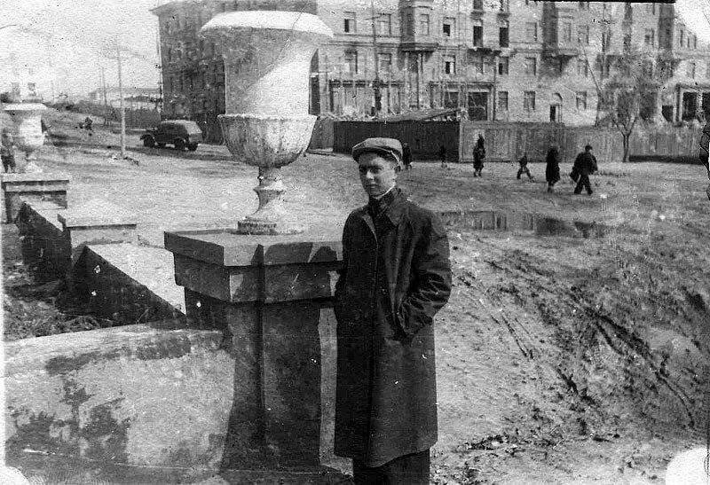 Строительные работы на проспекте Мира в 1955, фото /Rinka/