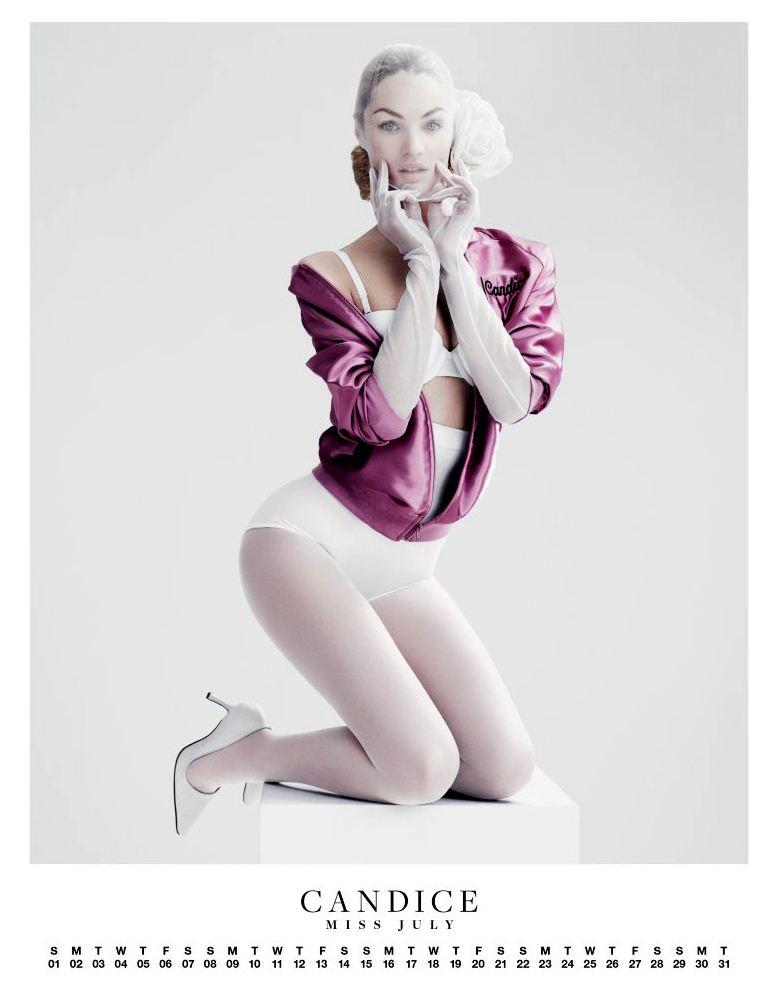 Ангелы Victorias Secret в пин-ап календаре на 2012 год - модель Кэндис Свейнпол / Candice Swanepoel