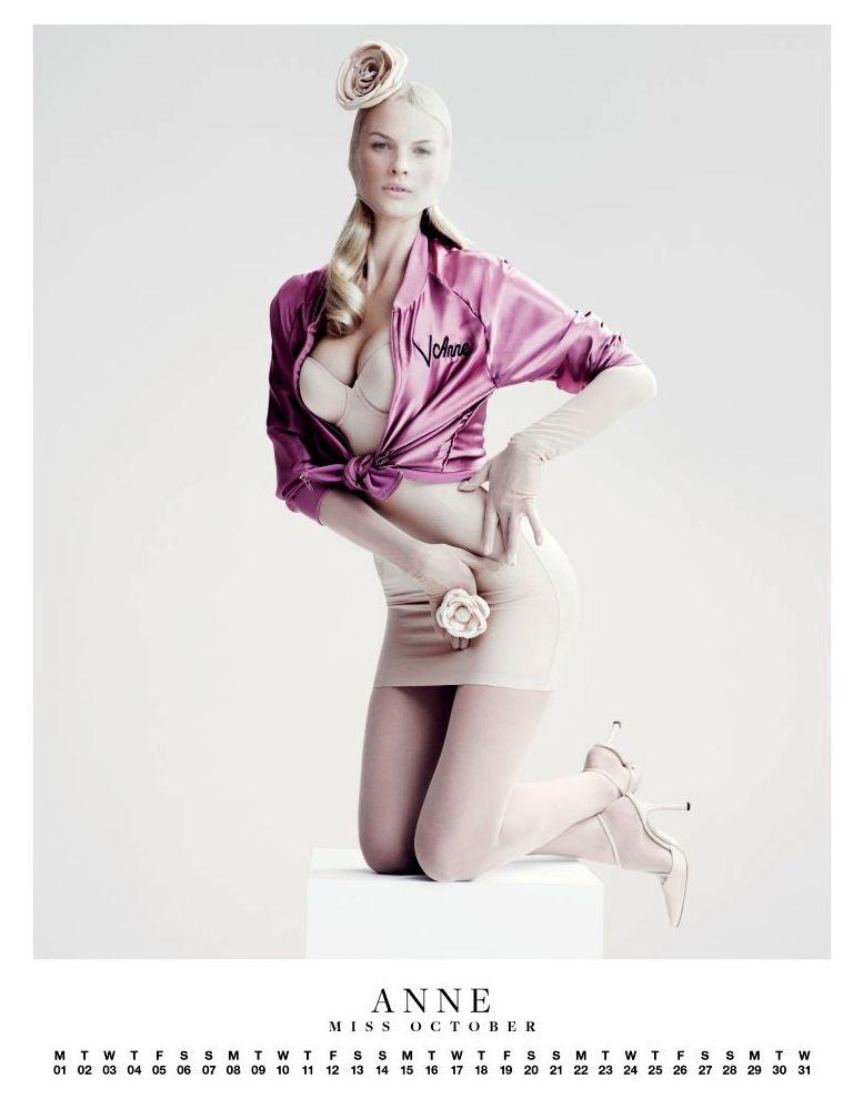 Ангелы Victorias Secret в пин-ап календаре на 2012 год - модель Анна Вьялицына / Anne Vyalitsyna