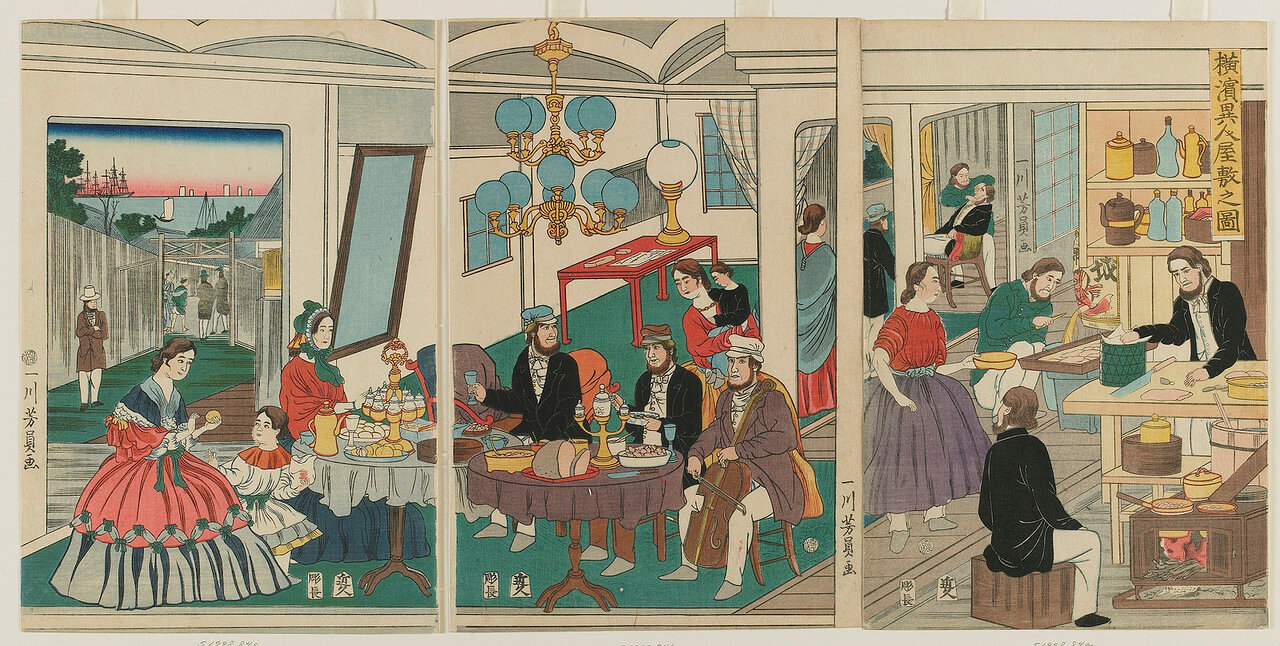 1861. В домах иностранцев в Йокогаме