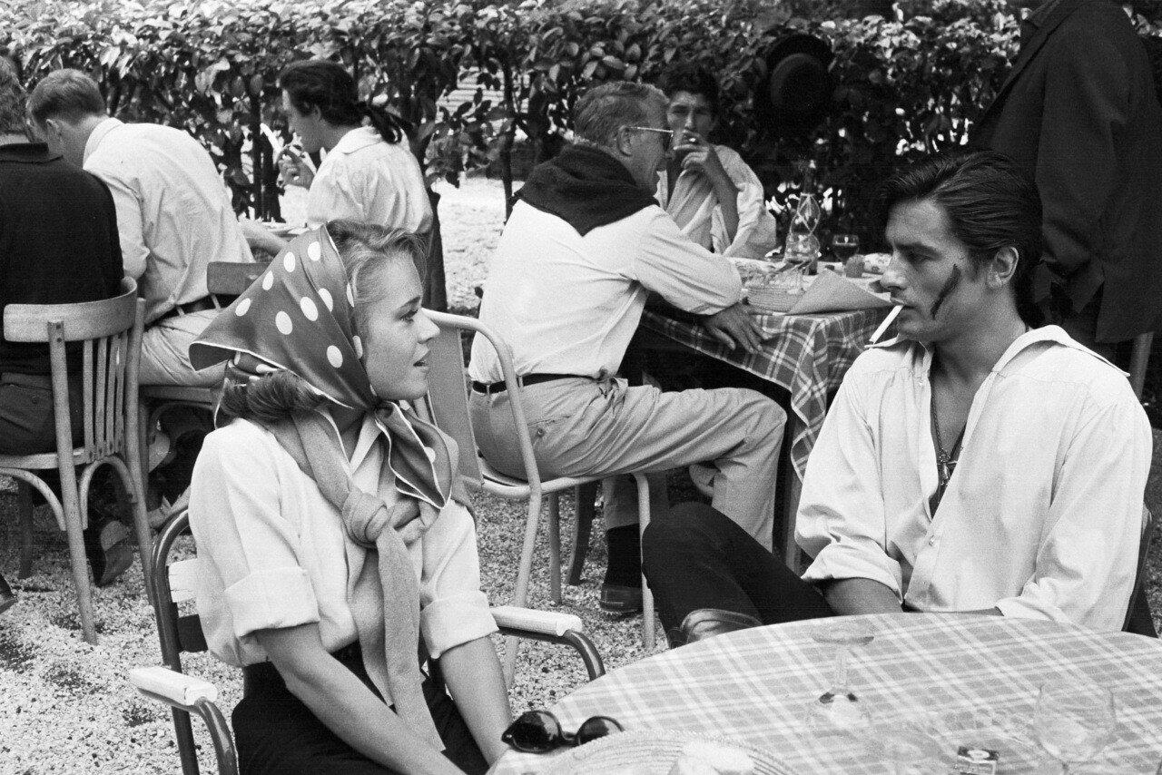 1963. С Джейн Фонда на съемках фильма «Чёрный тюльпан»